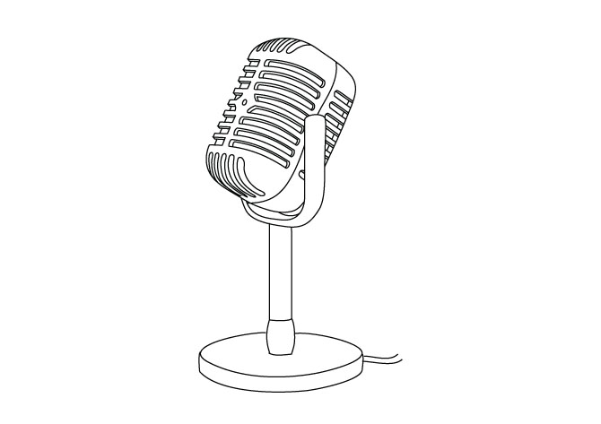 Line Art Microphone : Satzuma vectors freddy thomas